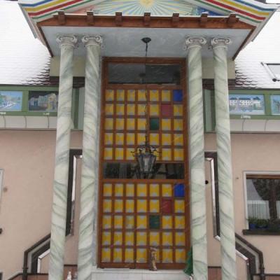 Eingangstür vom Tempel